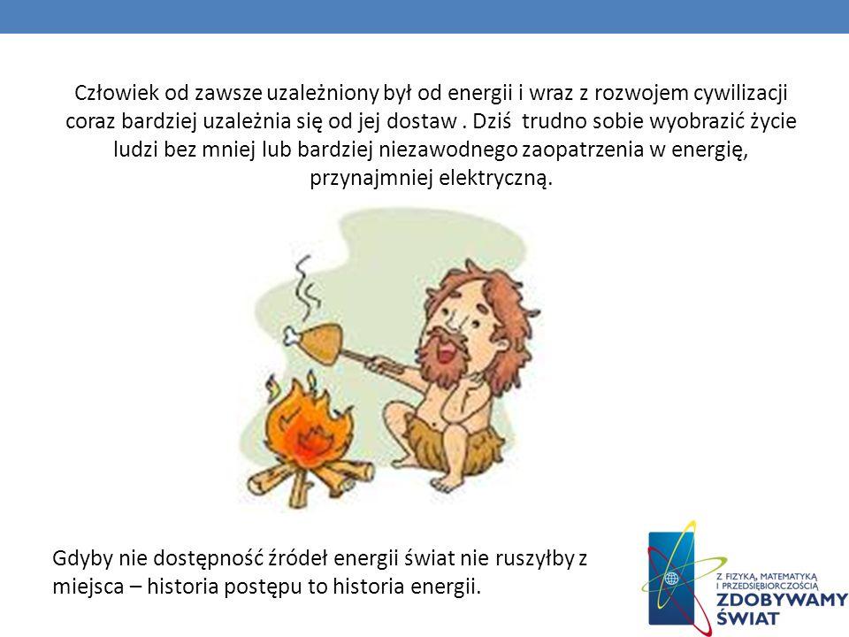 Człowiek od zawsze uzależniony był od energii i wraz z rozwojem cywilizacji coraz bardziej uzależnia się od jej dostaw . Dziś trudno sobie wyobrazić życie ludzi bez mniej lub bardziej niezawodnego zaopatrzenia w energię, przynajmniej elektryczną.
