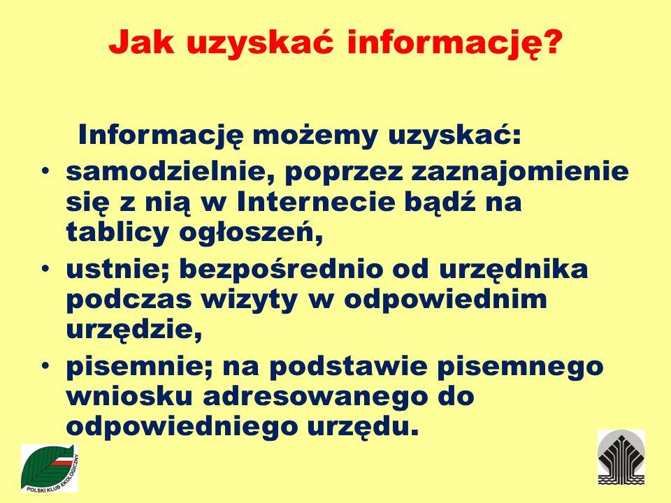 Jak uzyskać informację