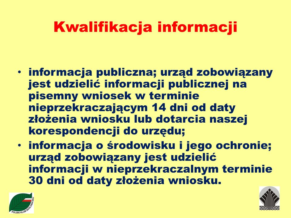 Kwalifikacja informacji