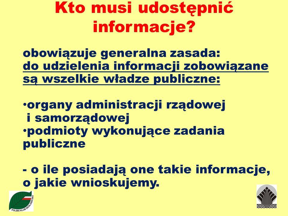 Kto musi udostępnić informacje