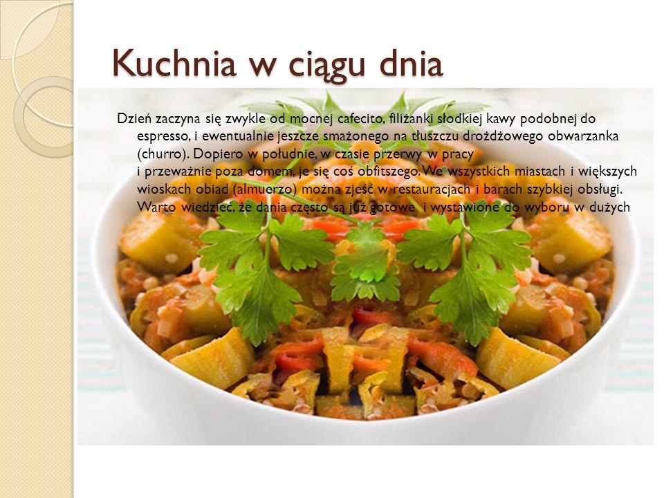 Kuchnia w ciągu dnia