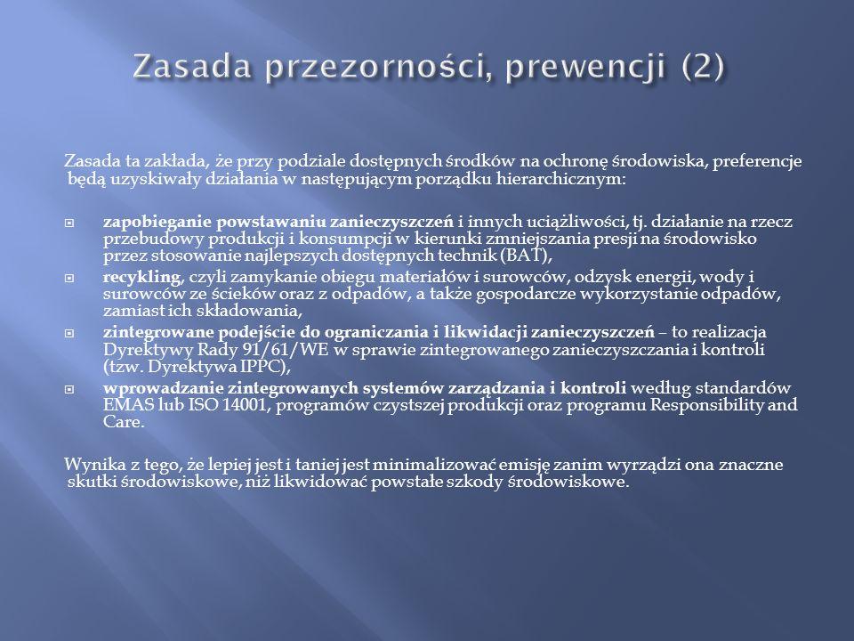 Zasada przezorności, prewencji (2)