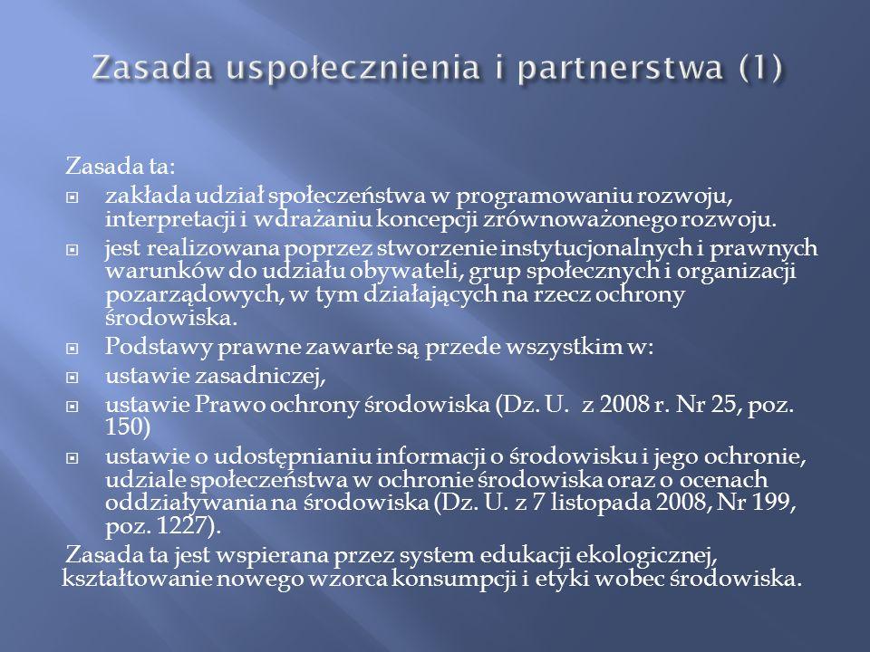 Zasada uspołecznienia i partnerstwa (1)