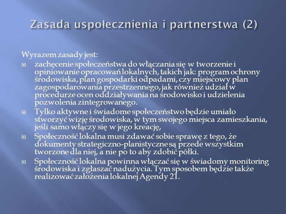 Zasada uspołecznienia i partnerstwa (2)