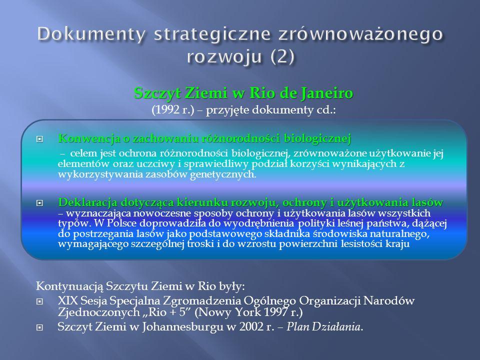 Dokumenty strategiczne zrównoważonego rozwoju (2)