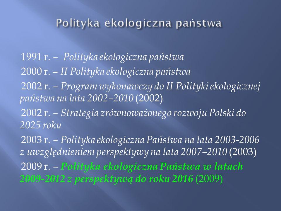 Polityka ekologiczna państwa