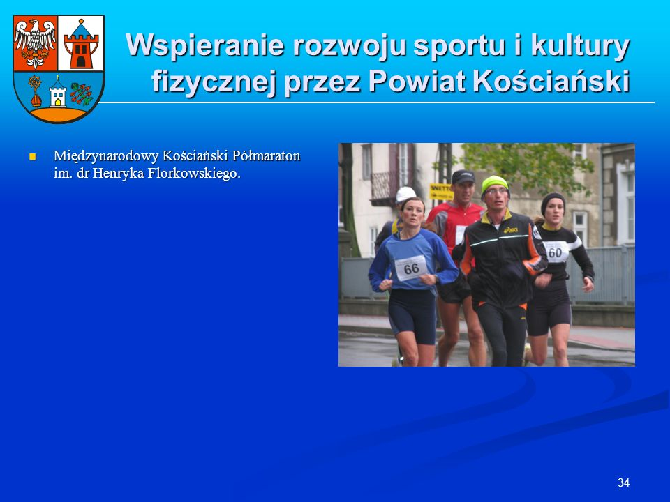 Wspieranie rozwoju sportu i kultury fizycznej przez Powiat Kościański