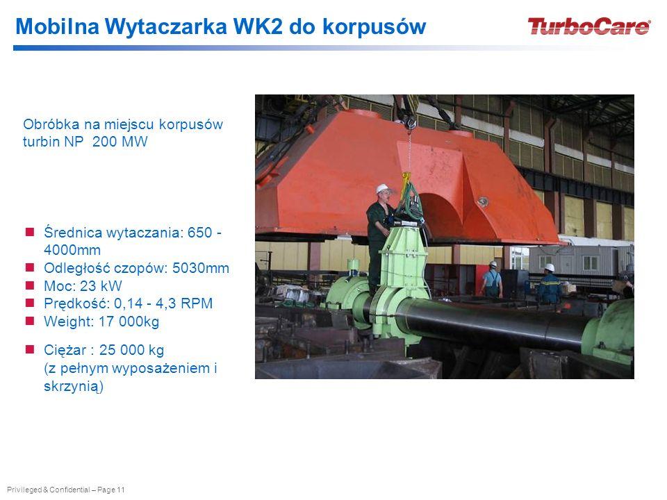 Mobilna Wytaczarka WK2 do korpusów