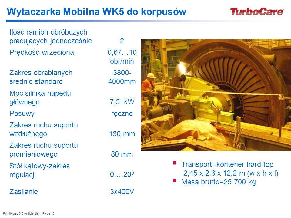 Wytaczarka Mobilna WK5 do korpusów