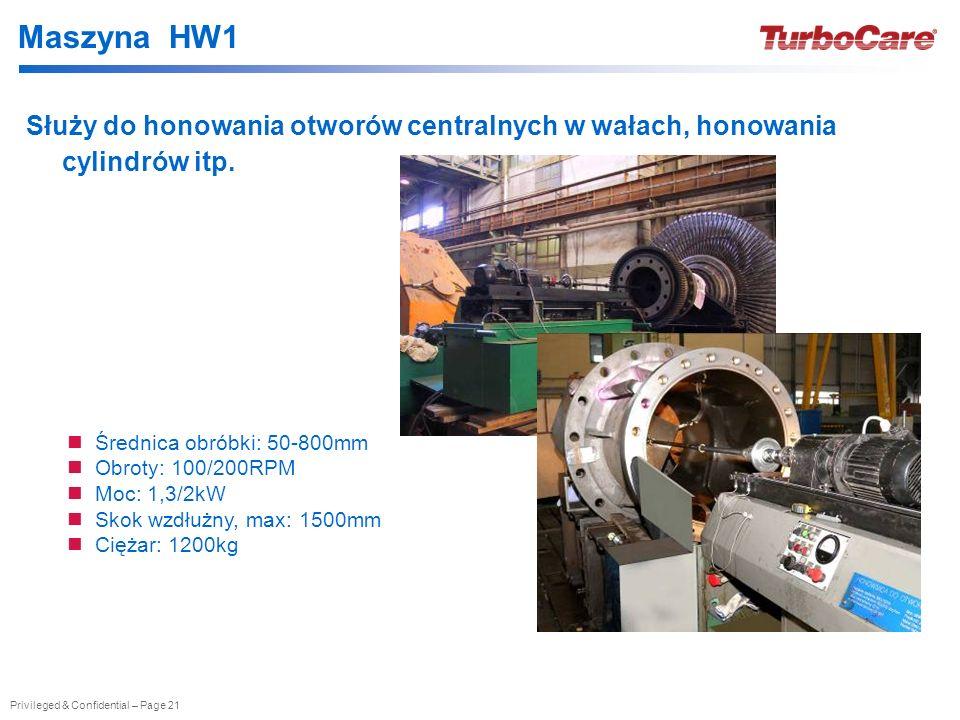 Maszyna HW1 Służy do honowania otworów centralnych w wałach, honowania cylindrów itp. Średnica obróbki: 50-800mm.
