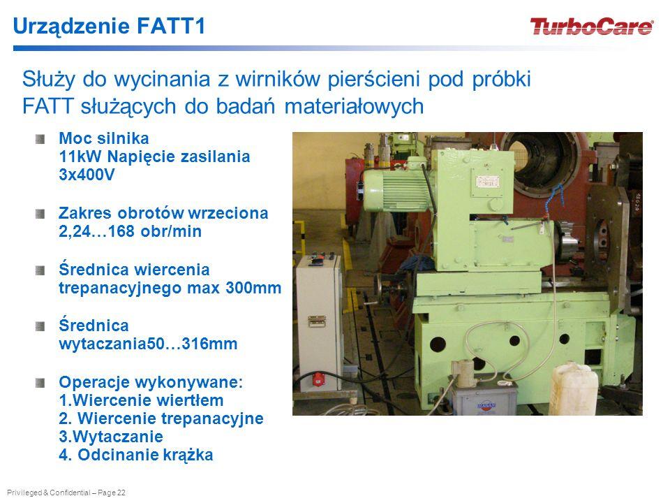 Urządzenie FATT1 Służy do wycinania z wirników pierścieni pod próbki FATT służących do badań materiałowych.