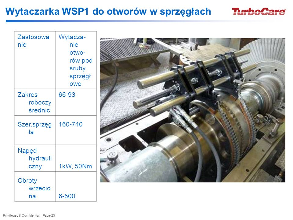 Wytaczarka WSP1 do otworów w sprzęgłach