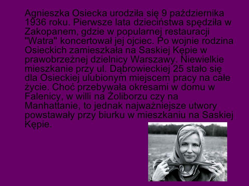 Agnieszka Osiecka urodziła się 9 października 1936 roku