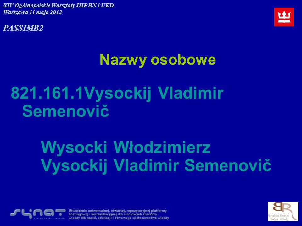 821.161.1Vysockij Vladimir Semenovič