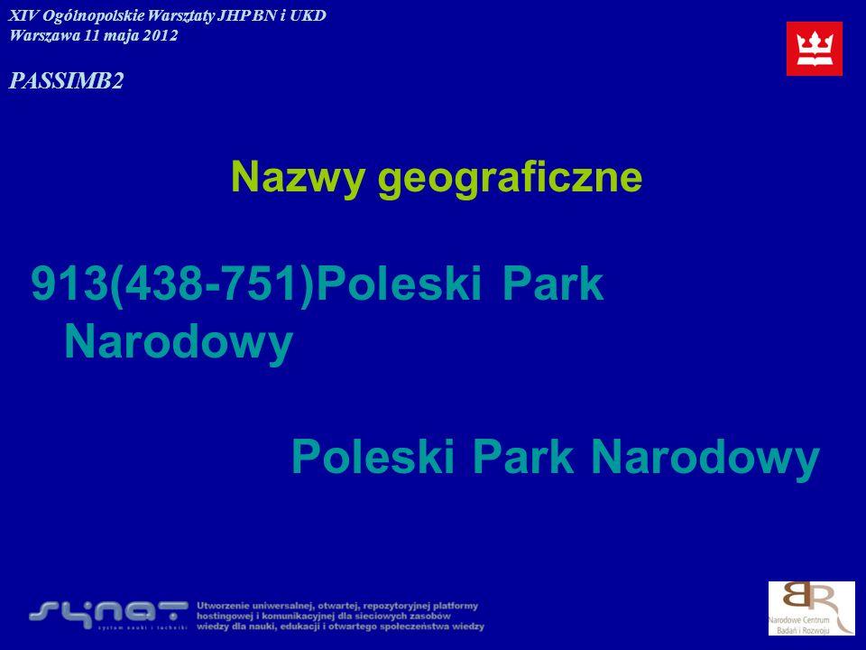 913(438-751)Poleski Park Narodowy