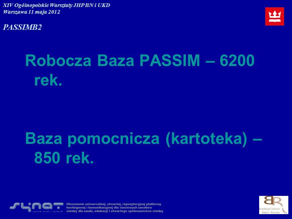 Robocza Baza PASSIM – 6200 rek.