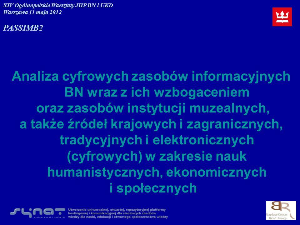 Analiza cyfrowych zasobów informacyjnych BN wraz z ich wzbogaceniem