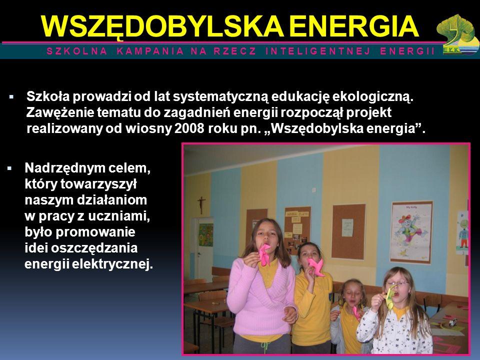 WSZĘDOBYLSKA ENERGIA S Z K O L N A K A M P A N I A N A R Z E C Z I N T E L I G E N T N E J E N E R G I I.