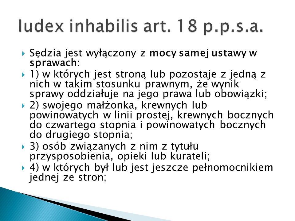 Iudex inhabilis art. 18 p.p.s.a.