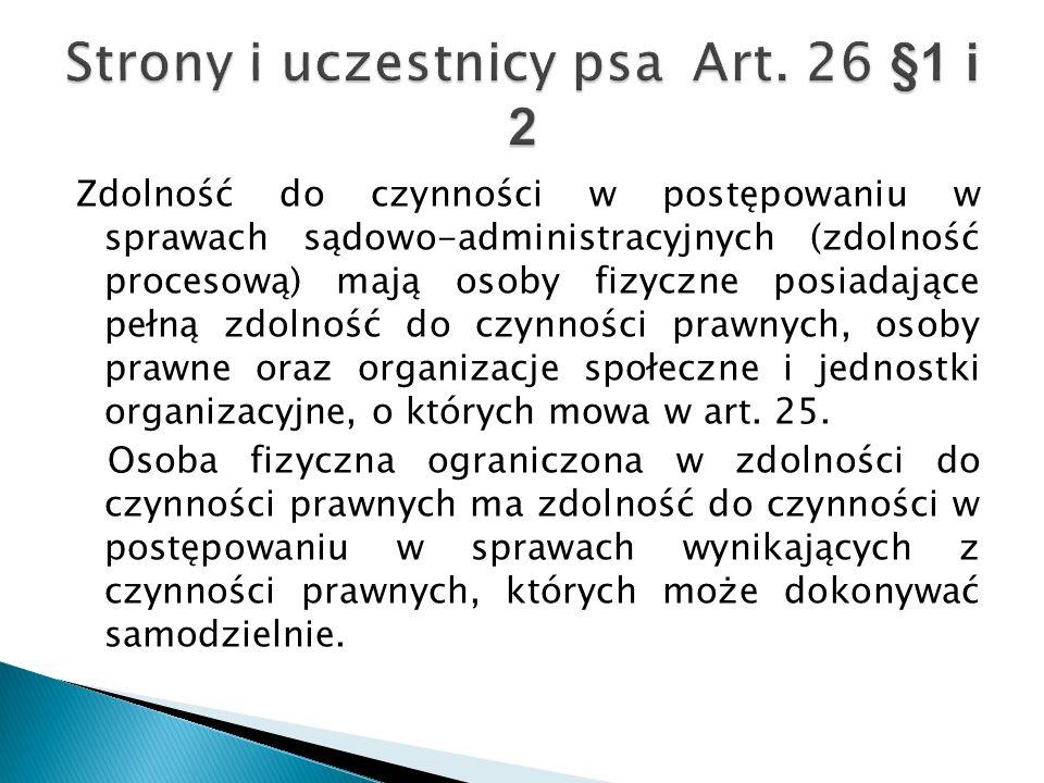 Strony i uczestnicy psa Art. 26 §1 i 2
