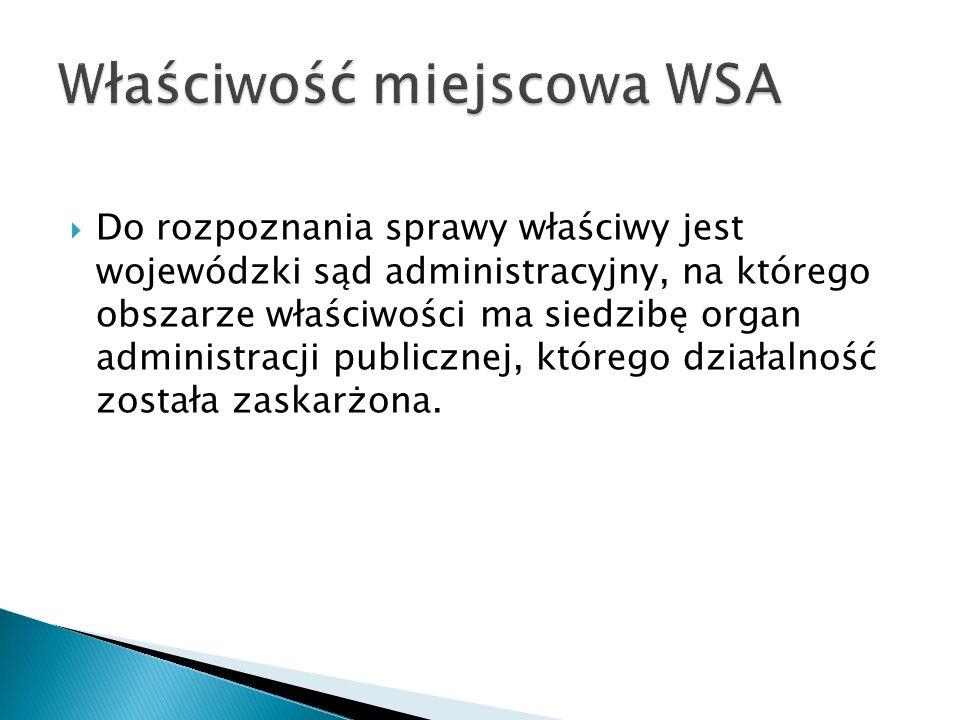 Właściwość miejscowa WSA
