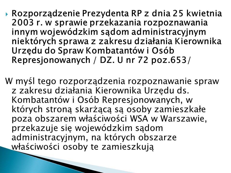 Rozporządzenie Prezydenta RP z dnia 25 kwietnia 2003 r