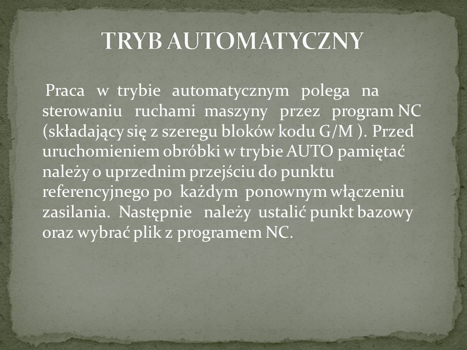 TRYB AUTOMATYCZNY
