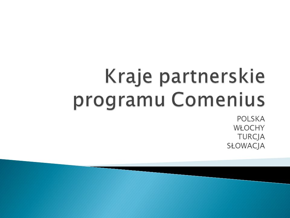 Kraje partnerskie programu Comenius