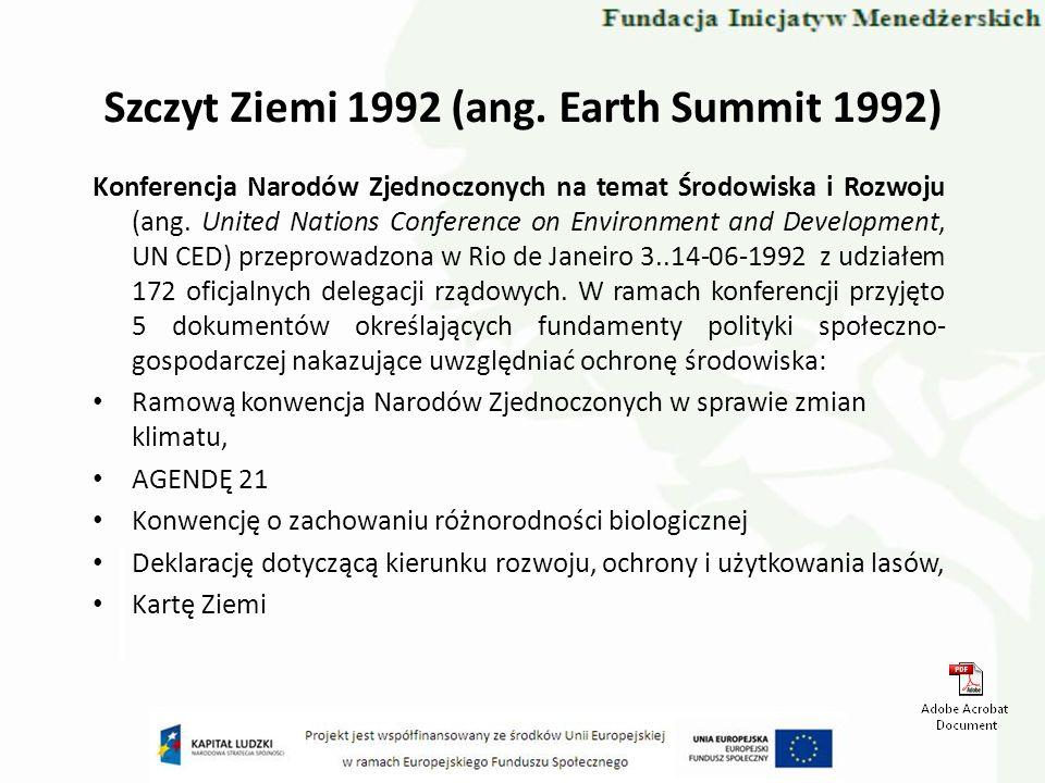 Szczyt Ziemi 1992 (ang. Earth Summit 1992)
