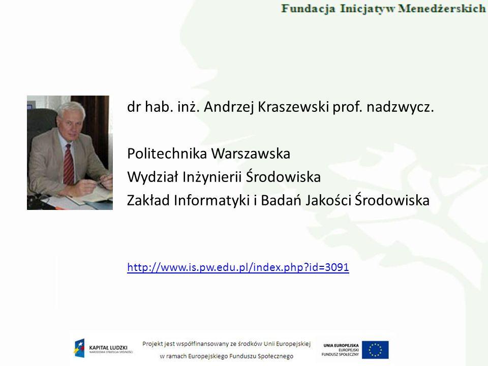 dr hab. inż. Andrzej Kraszewski prof. nadzwycz.