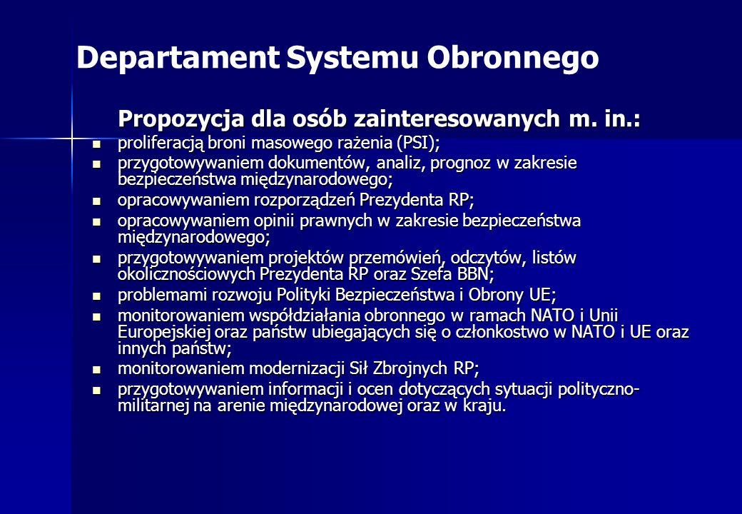 Departament Systemu Obronnego