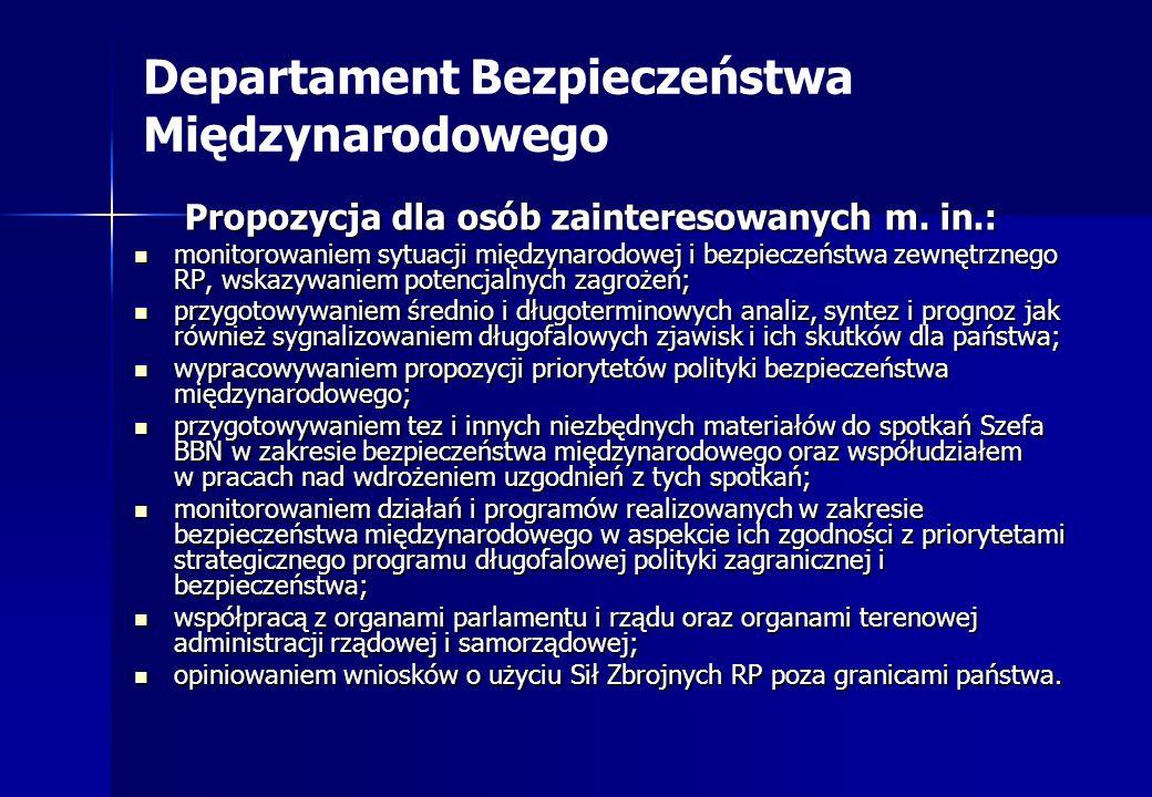Departament Bezpieczeństwa Międzynarodowego
