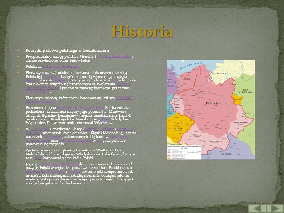 Historia Początki państwa polskiego w średniowieczu