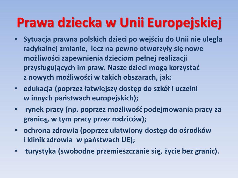 Prawa dziecka w Unii Europejskiej