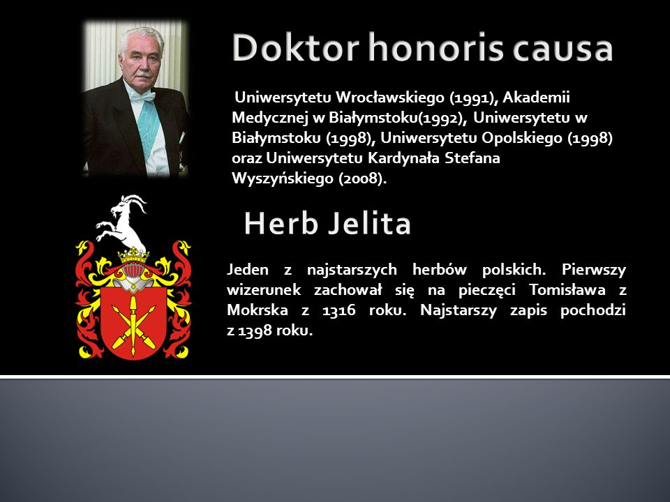 Doktor honoris causa Herb Jelita