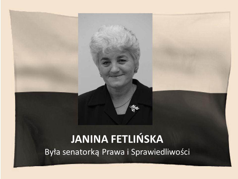 Była senatorką Prawa i Sprawiedliwości
