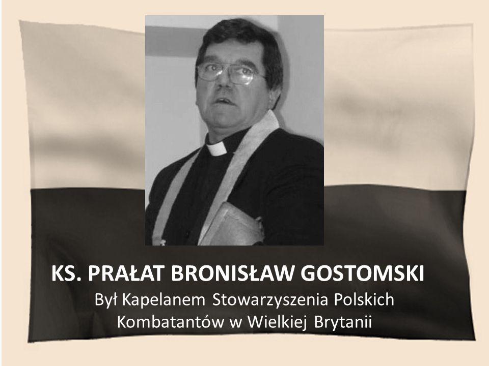 Był Kapelanem Stowarzyszenia Polskich Kombatantów w Wielkiej Brytanii