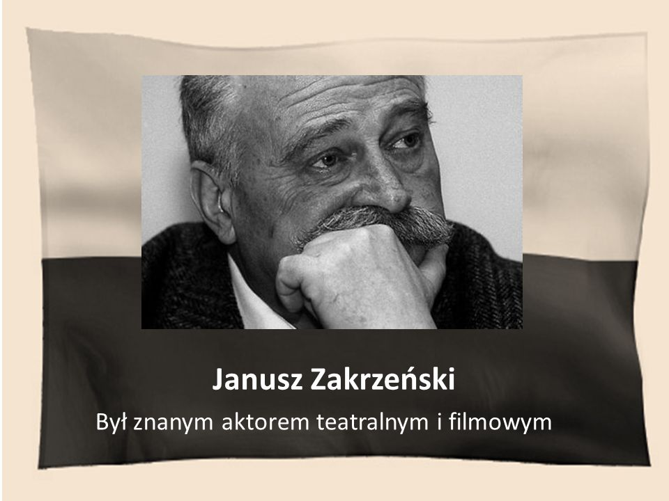 Był znanym aktorem teatralnym i filmowym
