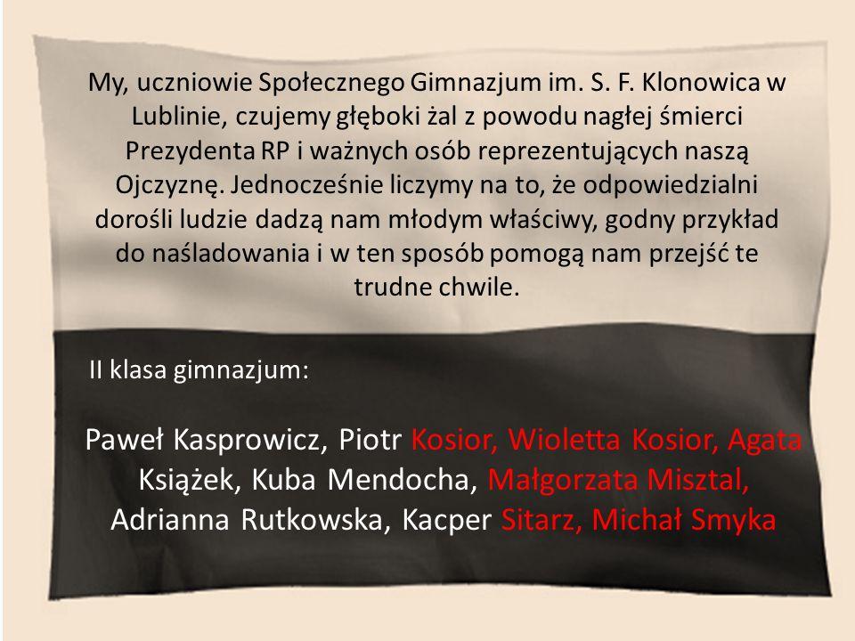 My, uczniowie Społecznego Gimnazjum im. S. F