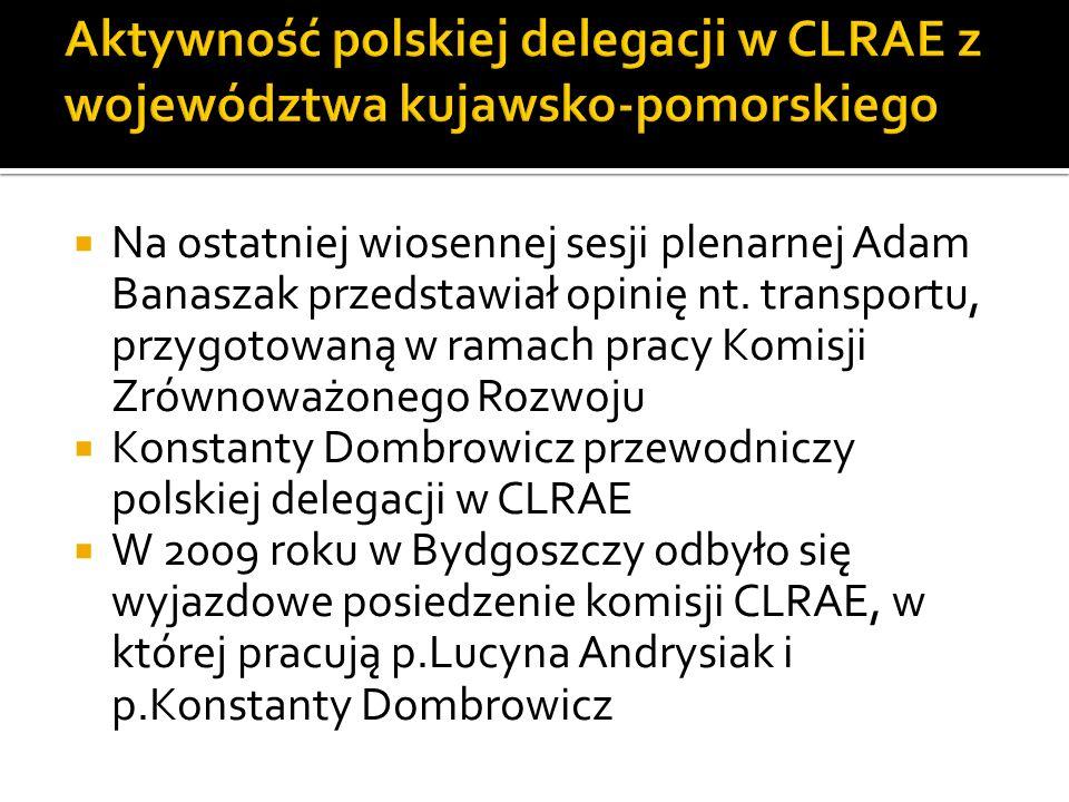 Aktywność polskiej delegacji w CLRAE z województwa kujawsko-pomorskiego