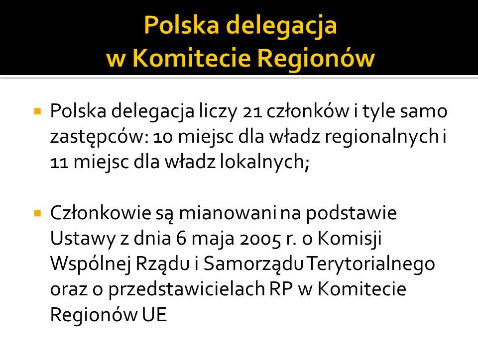 Polska delegacja w Komitecie Regionów