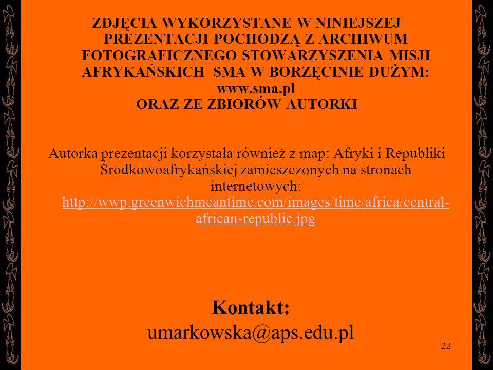 Kontakt: umarkowska@aps.edu.pl
