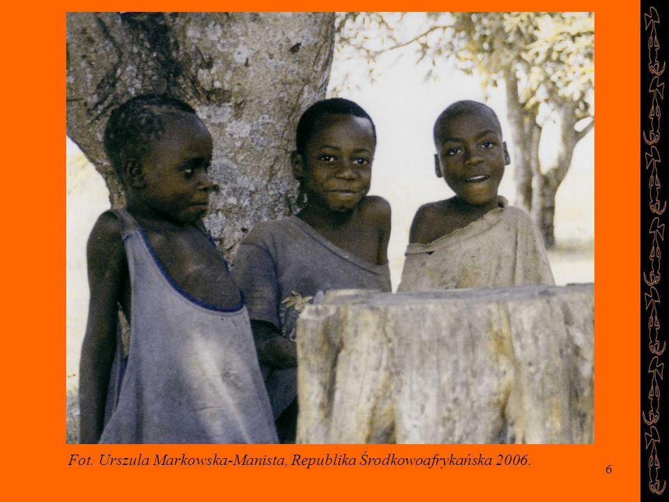 Fot. Urszula Markowska-Manista, Republika Środkowoafrykańska 2006.