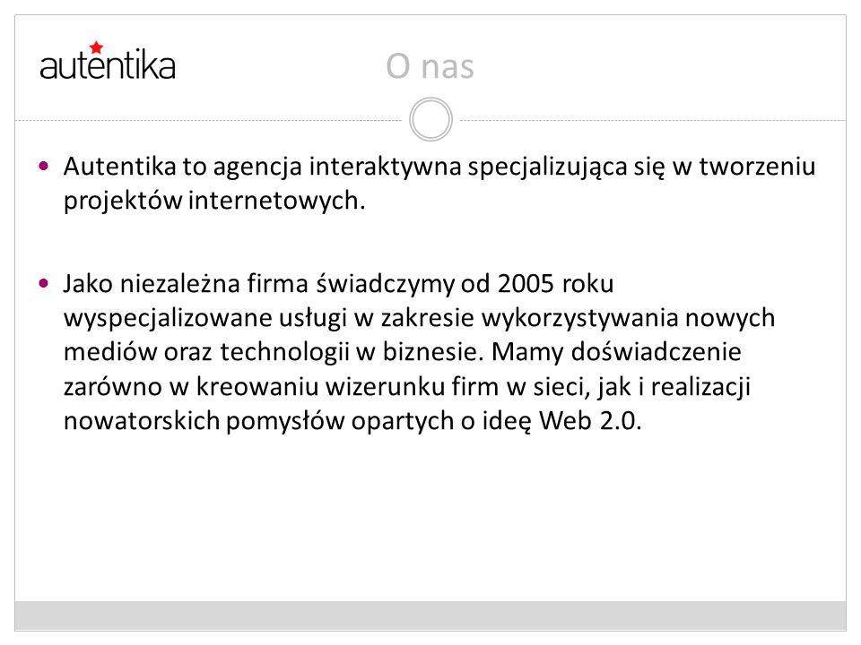 O nas Autentika to agencja interaktywna specjalizująca się w tworzeniu projektów internetowych.