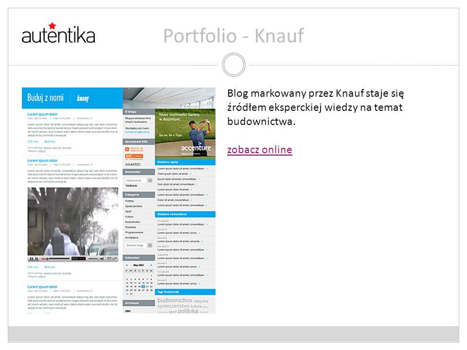 Portfolio - Knauf Blog markowany przez Knauf staje się źródłem eksperckiej wiedzy na temat budownictwa.
