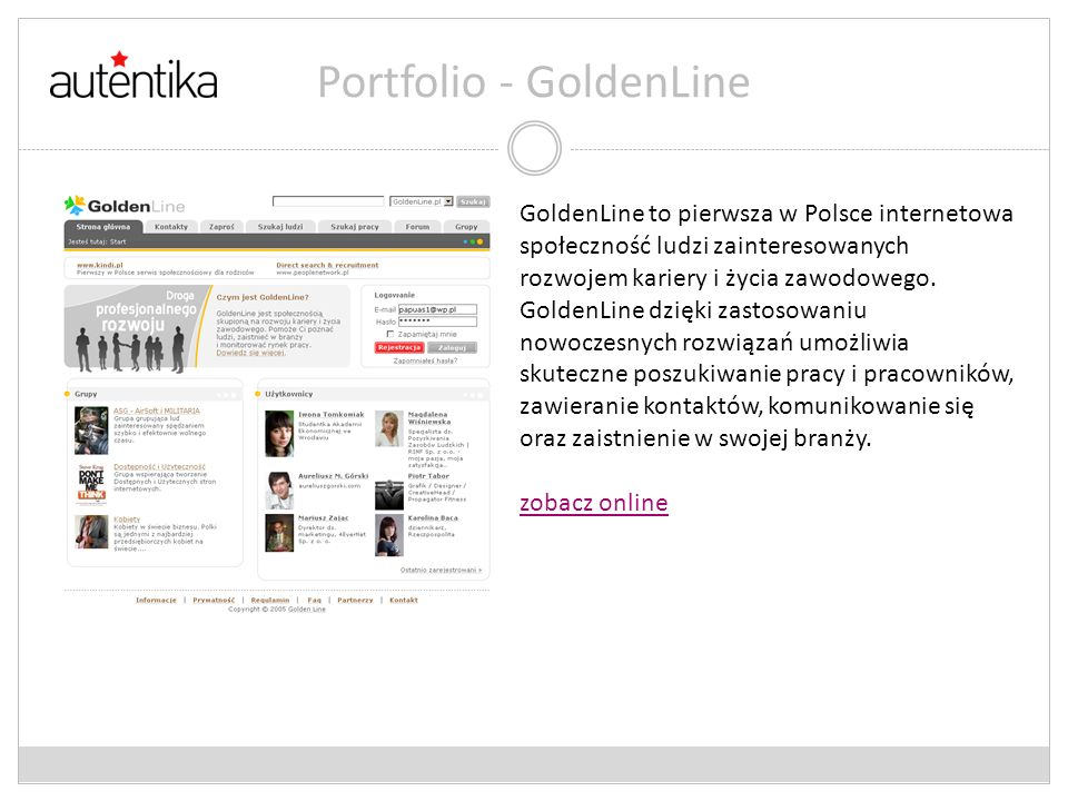 Portfolio - GoldenLine