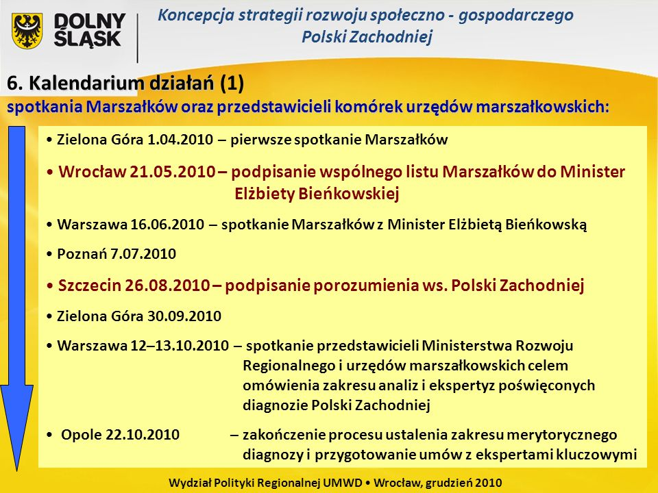 Wydział Polityki Regionalnej UMWD • Wrocław, grudzień 2010