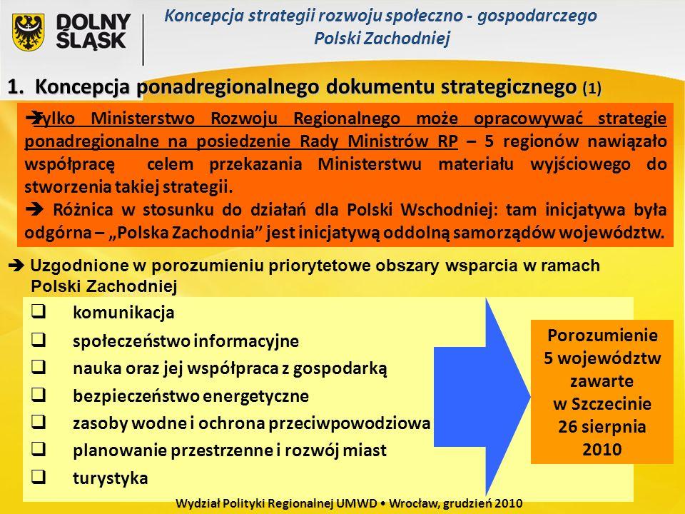 Porozumienie 5 województw zawarte w Szczecinie
