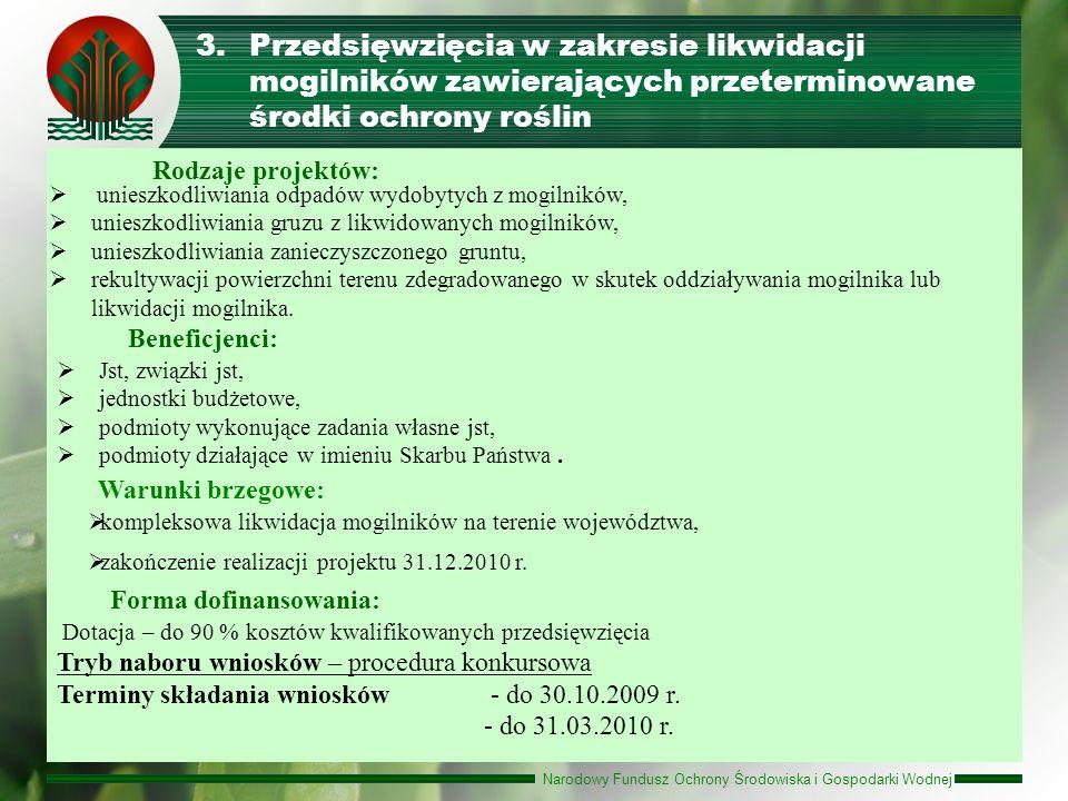 Przedsięwzięcia w zakresie likwidacji mogilników zawierających przeterminowane środki ochrony roślin