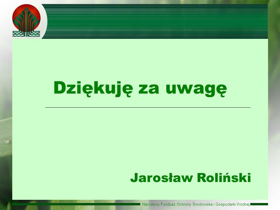 Dziękuję za uwagę Jarosław Roliński